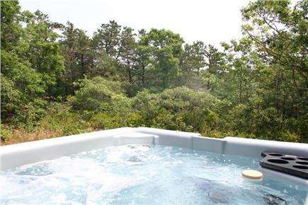 Truro Cape Cod vacation rental - Large Cedar Hot Tub in Woodland Setting