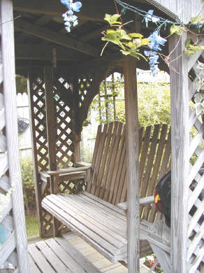 Pocasset Pocasset vacation rental - Close Up of Gazebo with 2 Porch Swings