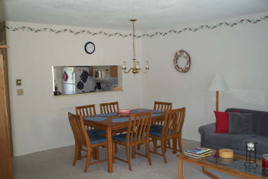 Brewster - Ocean Edge Resort Cape Cod vacation rental - Dining Room with view of kitchen