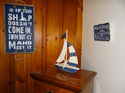 Dennis Port, Sea St Beach Area Cape Cod vacation rental - Nautical Decor Throughout