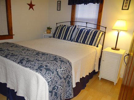 Dennis Port, Sea St Beach Area Cape Cod vacation rental - Bedroom #2  New Queen Bedding with nautical decor