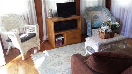 West Yarmouth Cape Cod vacation rental - Sunroom with futon for extra double bed.