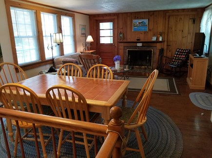 West Yarmouth Cape Cod vacation rental - Open dining area and cozy living room