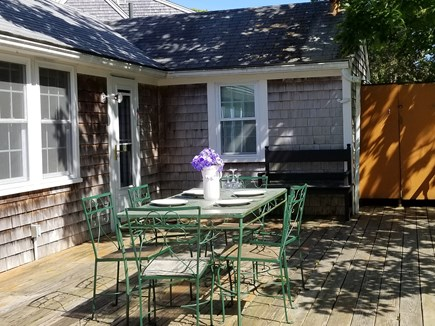 West Yarmouth Cape Cod vacation rental - Dining on the deck. BBQ time!!