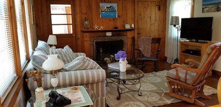 West Yarmouth Cape Cod vacation rental - Living room and large screen TV.