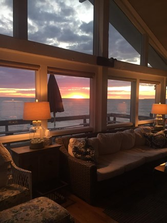 North Eastham Cape Cod vacation rental - View from Upstairs Living Room of Gorgeous Sunsets.