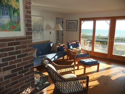 North Eastham Cape Cod vacation rental - Downstairs Living Area opens onto lower deck overlooking bay
