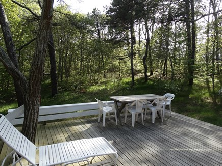 South Truro-Wellfleet line Cape Cod vacation rental - Deck outside Living Room
