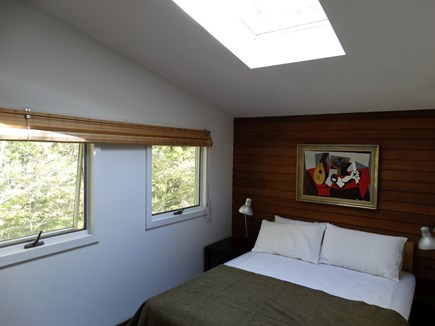 South Truro-Wellfleet line Cape Cod vacation rental - Master Bedroom with Skylight above bed