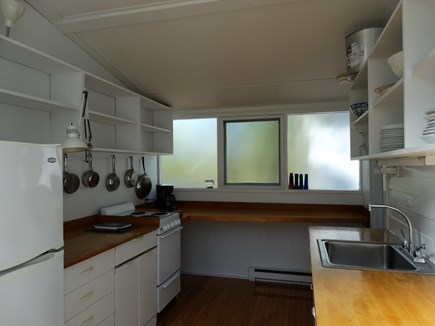 South Truro-Wellfleet line Cape Cod vacation rental - Kitchen with windows to North