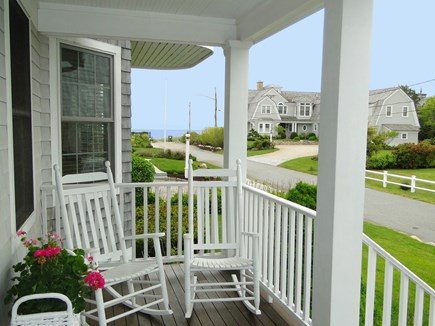 New Seabury/(Popponesset) New Seabury vacation rental - Relaxing front porch with rocking chairs and ocean view
