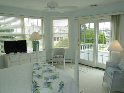 New Seabury/(Popponesset) New Seabury vacation rental - Queen master bedroom with water views from balcony