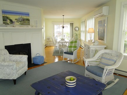 New Seabury/(Popponesset) New Seabury vacation rental - Living room with gas fireplace, opens to dining area