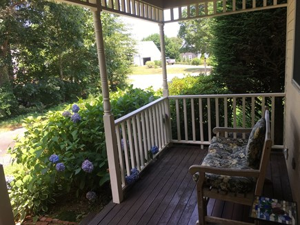 Near Harwich center/park/bike  Cape Cod vacation rental - Front Farmers Porch for reading or morning coffee