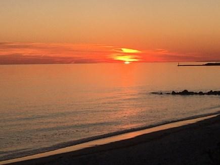Near Harwich center/park/bike  Cape Cod vacation rental - Sunset in Harwich Port 1/15/2020