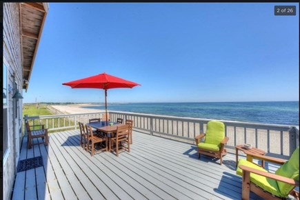East Sandwich Cape Cod vacation rental - Spectacular ocean view from deck