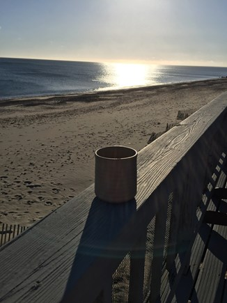 East Sandwich Cape Cod vacation rental - Morning Coffee on the deck!