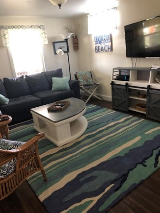 East Sandwich Cape Cod vacation rental - Downstairs Family Room with TV