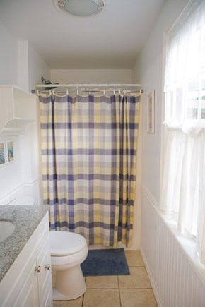Brewster Cape Cod vacation rental - Newly renovated Master Bathroom with heated tile flooring.