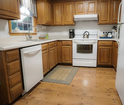 Brewster Cape Cod vacation rental - Clean, workable kitchen with new appliances.
