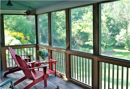 Wellfleet Village Cape Cod vacation rental - Porch overlooking back yard