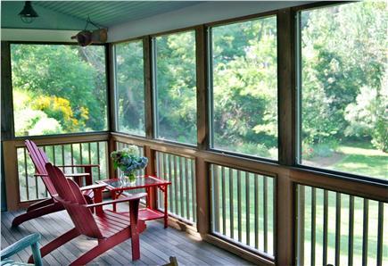 Wellfleet Cape Cod vacation rental - Porch overlooking back yard