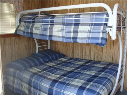Plymouth  (White Horse Beach) MA vacation rental - Bunk room with small tv- top bed/single and bottom/double