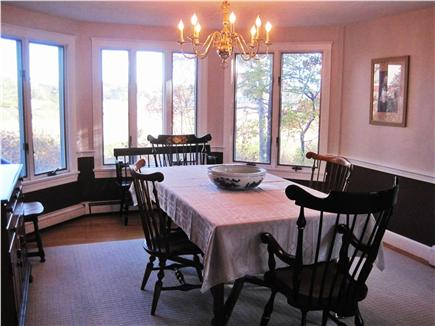 West Dennis Cape Cod vacation rental - Formal dining room with view of Swan River
