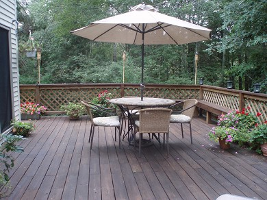 New Seabury (Mashpee) New Seabury vacation rental - A deck with a view of the forest and pond!