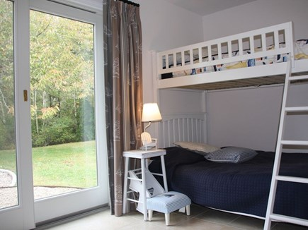 Chatham Cape Cod vacation rental - 4th bedroom with bunk bed & access to the outdoor shower