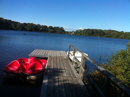Chatham Cape Cod vacation rental - The dock, ideal for swimming, boating & fishing. Paddleboat