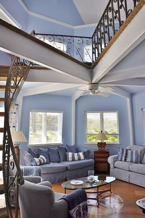 Chatham Cape Cod vacation rental - The windmill rec room with a sleeping area above (2 futons)