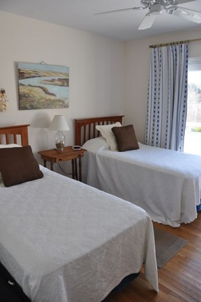 Chatham Cape Cod vacation rental - 2nd bedroom with lake view & access to deck