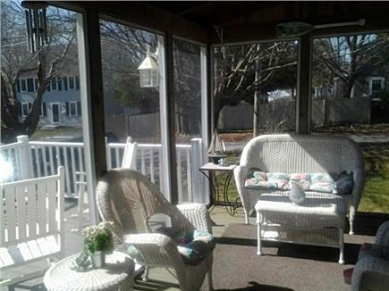 West Yarmouth Cape Cod vacation rental - Seating area of porch