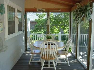 West Yarmouth Cape Cod vacation rental - Dining section of screened porch