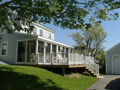 West Yarmouth Cape Cod vacation rental - Screened farmer's porch/deck,/outdoor shower & bbq