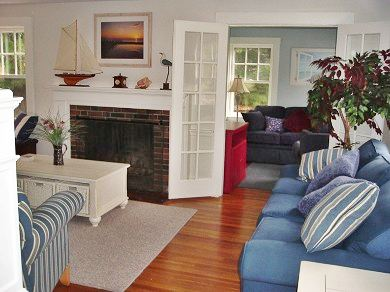 West Yarmouth Cape Cod vacation rental - Living room (w/queen sofabed) & den (w/full sofabed)