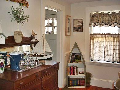 West Yarmouth Cape Cod vacation rental - Dining area antique oak buffet server