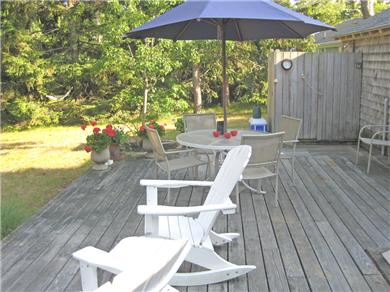 Brewster Cape Cod vacation rental - Rear Deck With Outdoor Shower