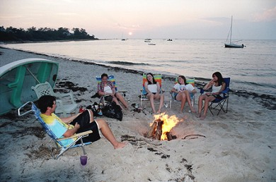 Brewster Cape Cod vacation rental - Bonfire at the Beach