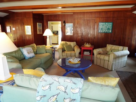 Orleans Cape Cod vacation rental - Great Room with three seating areas, glass top table for games.