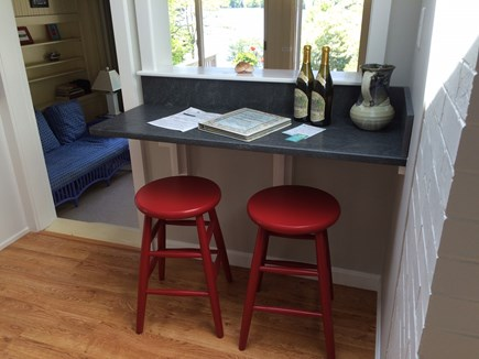 Orleans Cape Cod vacation rental - Coffee nook overlooking dining room and lake.