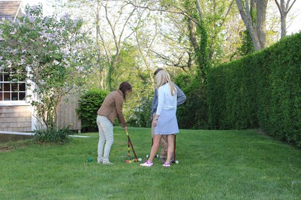 Orleans Cape Cod vacation rental - Enjoy Croquet, Bocci or Badminton on the Flat Sidelawn.