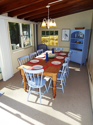 Orleans Cape Cod vacation rental - Dining Room with Sliding Doors to Deck with Grill.