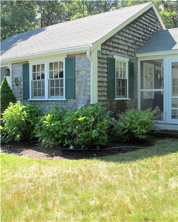 Chatham Cape Cod vacation rental - Looking right side of cottage with screened in porch