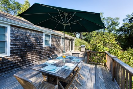 Wellfleet Cape Cod vacation rental - Enjoy afternoon sun on the back deck!