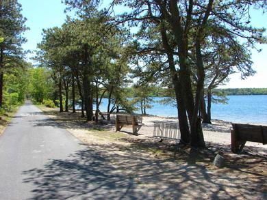 Brewster, The Highlands Cape Cod vacation rental - Access the CC Rail Trail in our neighborhood, by Seymour Pond