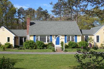 Brewster, The Highlands Cape Cod vacation rental - House sits back from road with circular driveway