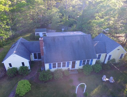Brewster, The Highlands Cape Cod vacation rental - Aerial of the front of house