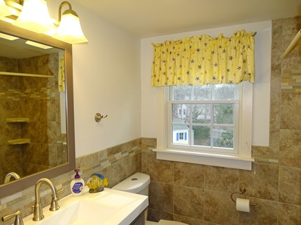 Brewster, The Highlands Cape Cod vacation rental - Upstairs bathroom. Newly refinished with new shower and sink.